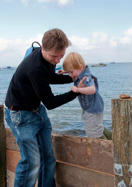 Back injury lifting child