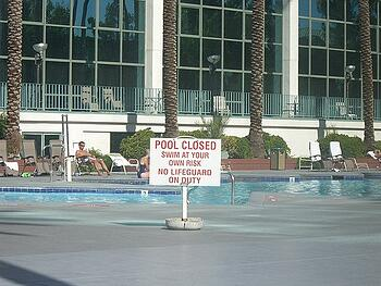 Blood Cleanup in Swimming Pools