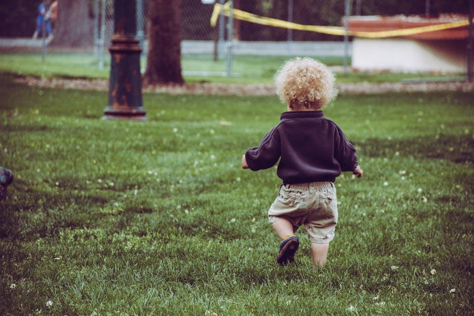 kid walking